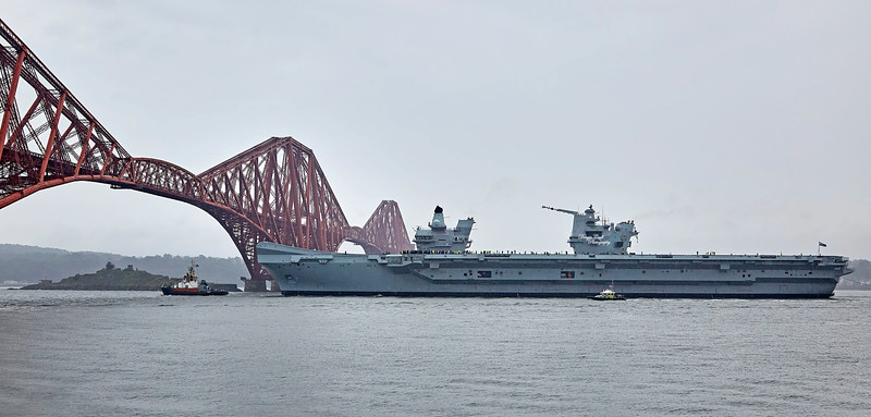 HMS Prince of Wales (R09) at North Queensferry - 22 September 2019