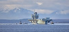 HMS Queen Elizabeth (R08) off Strone Point - 15 March 2021