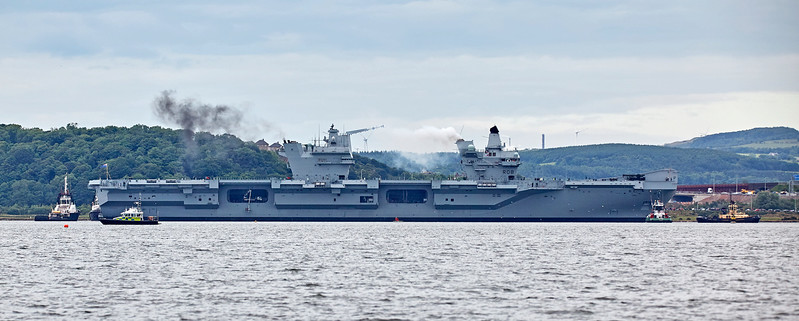 Engines Start on the HMS Queen Elizabeth (R08) at Rosyth - 26 June 2017