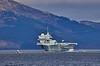 HMS Queen Elizabeth (R08) off Cloch Lighthouse, Gourock - 20 March 2021