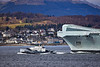 SD Tempest with the HMS Queen Elizabeth (R08) off Cloch Lighthouse, Gourock - 20 March 2021