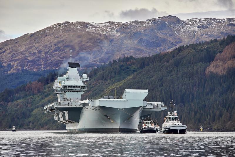 HMS Queen Elizabeth (R08) at Glen Mallan - 15 March 2021