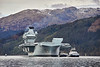 HMS Queen Elizabeth (R08) at Glen Mallan - 15 March 2021