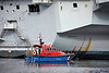 Pilot Boat 'Turnstone' with HMS Queen Elizabeth (R08) at Glen Mallan - 15 March 2021