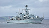HMS Somerset (F82) off Port Glasgow - 23 September 2016