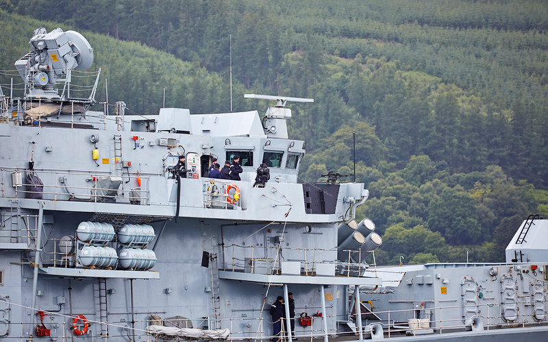 HMS Somerset (F82) off Rhu - 8 July 2016