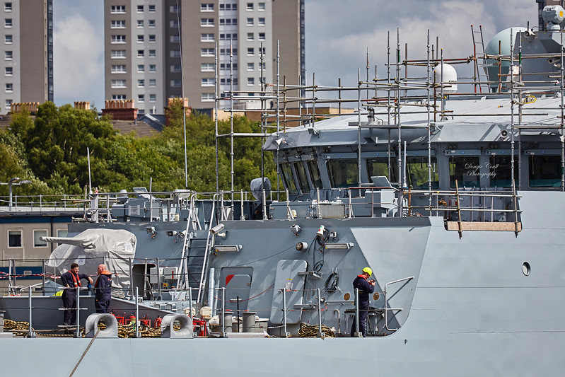 HMS Forth (P222) off Braehead - 28 July 2017