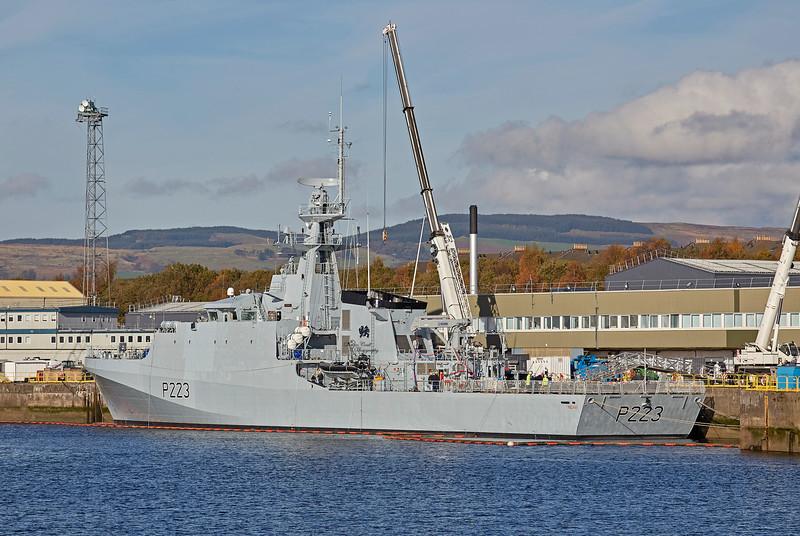 HMS Medway (P223) at Braehead - 29 October 2018