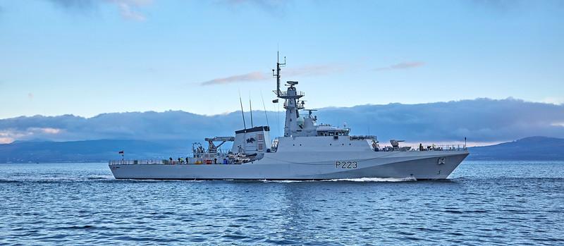 (HMS) Medway (P223) at Greenock - 24 November 2018