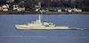 HMS Trent (P224) passing Langbank - 13 December 2019