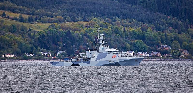 HMS Tamar (P223) off Gourock - 21 May 2021