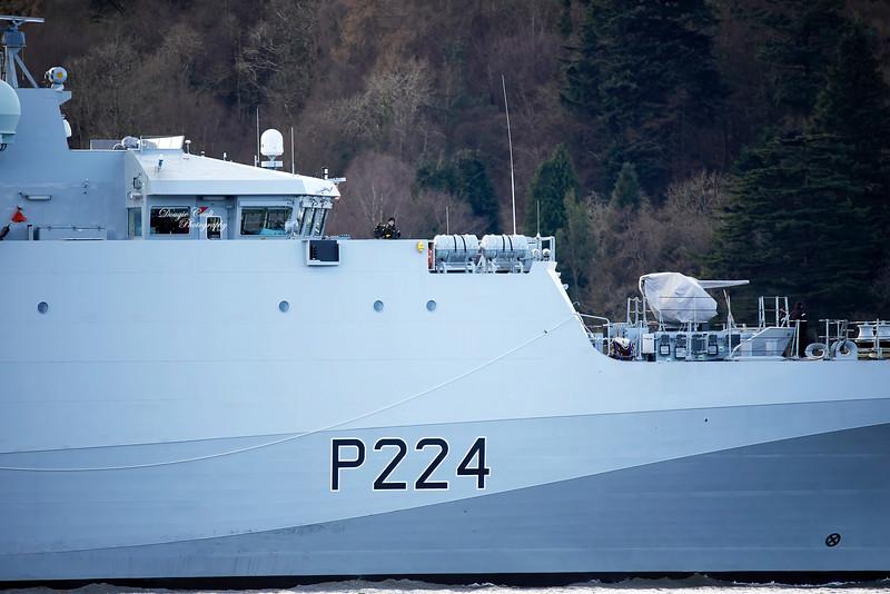 HMS Trent (P224) off Rhu - 13 February 2020