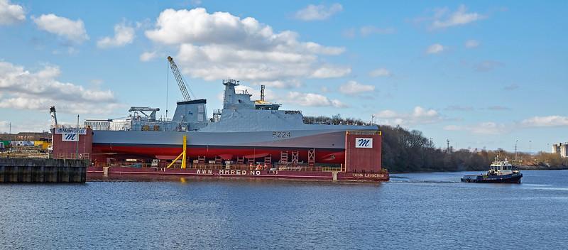 (HMS) Trent at BAE Yard, Govan - 19 March 2018