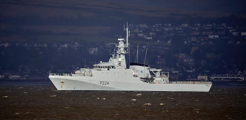 HMS Trent (P224) off Greenock - 18 February 2020