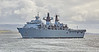 'HMS Bulwark' passing Port Glasgow - 2 May 2016