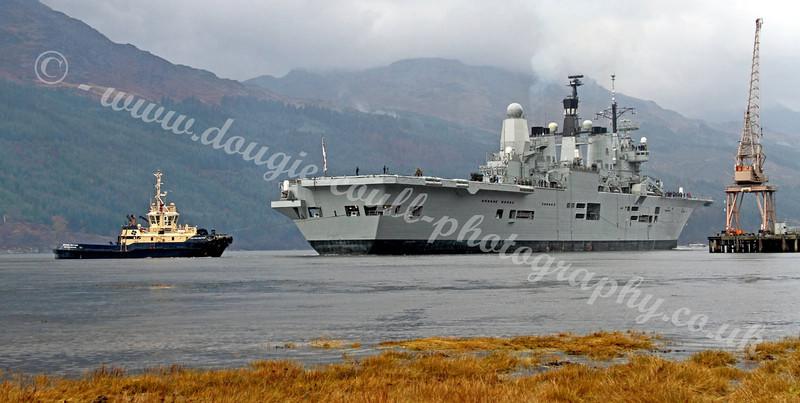 HMS Ark Royal - Pulling off Glen Mallon Jetty