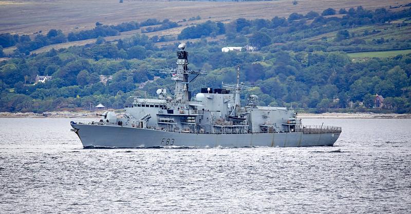 HMS St Albans (F83) off Cloch Lighthouse - 3 August 2018