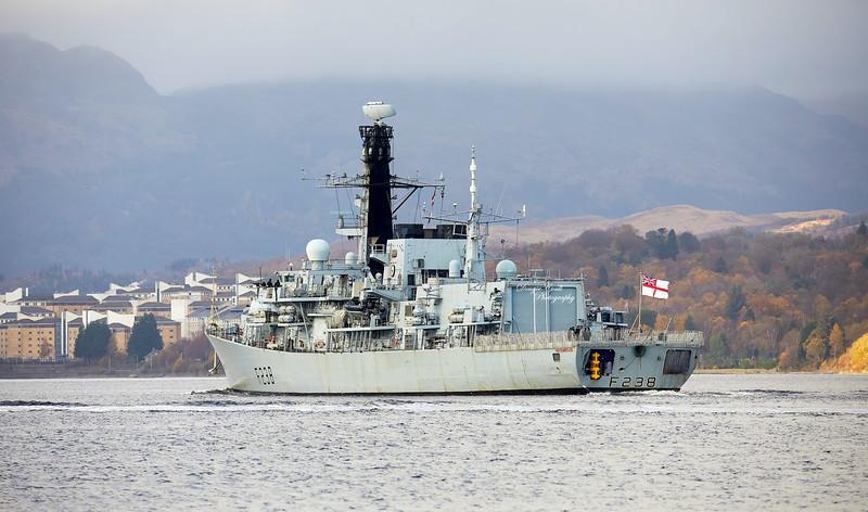 HMS Northumberland (F238) at Gareloch - 5 November 2020