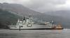 HMS Ark Royal Canting off Glen Mallon Jetty