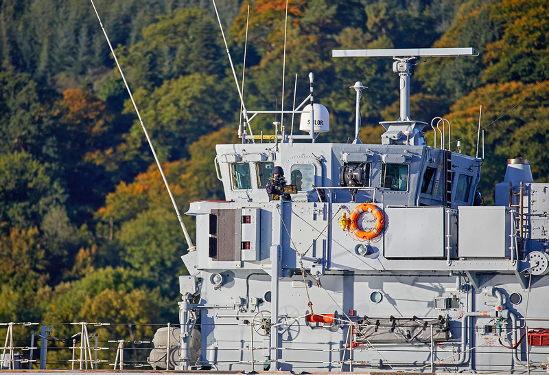 HMS Cattistock (M31) off Rhu Spit - 24 September 2018