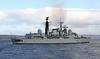 HMS Liverpool (D92) - Passing Port Glasgow - 24 February 2012