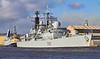 HMS Liverpool (D92) approaching KGV Docks - 24 February 2012