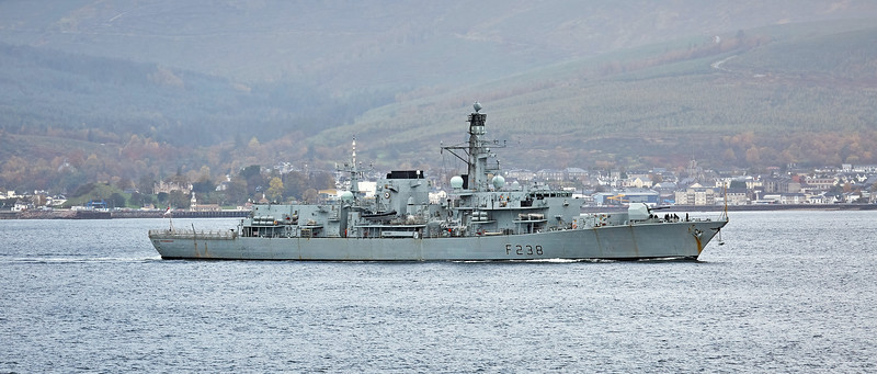 HMS Northumberland(F238) off Cloch Lighthouse - 23 October 2020