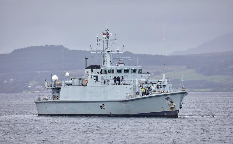 HMS Ramsey (M110) off Greenock - 10 September 2018