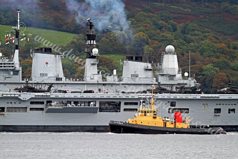 Ark Royal with SD Nimble at Faslane