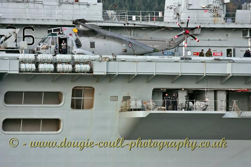 HMS Illustrious - Helo on Deck