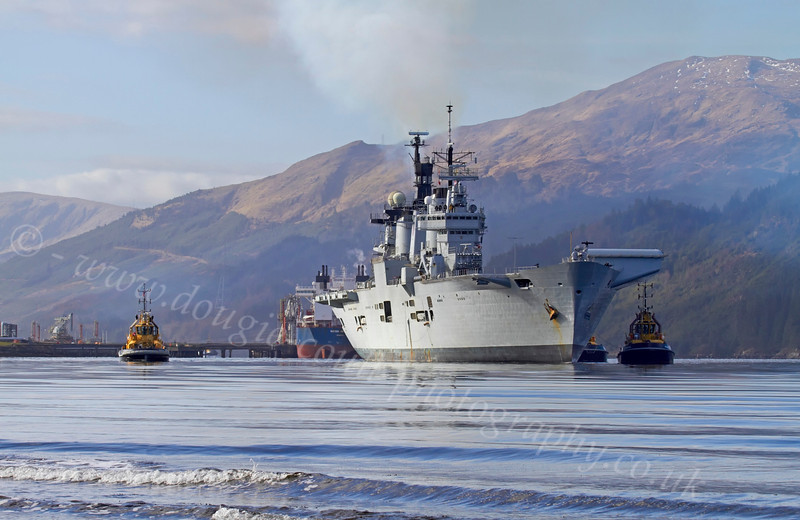HMS Illustrious Off Glen Mallan - 1 March 2013