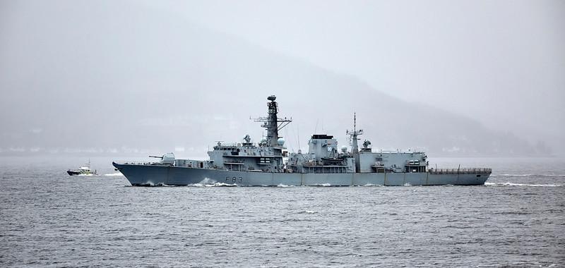 HMS St Albans (F83) off Cloch Lighthouse - 13 November 2017