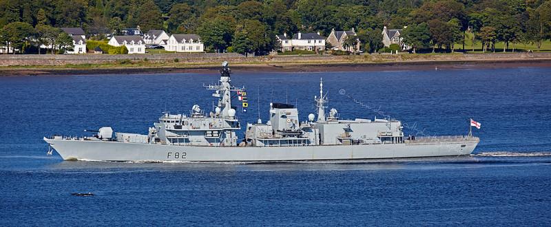 'HMS Somerset' (F82) off Langbank - 6 September 2015