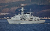 HMS Westminster (F237) off Cloch Lighthouse - 9 March 2017