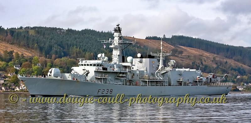 HMS Northumberland - Frigate - Departs Faslane Naval Base
