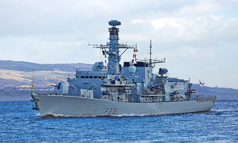 'HMS Argyll' (F231) off Port Glasgow - 10 March 2015