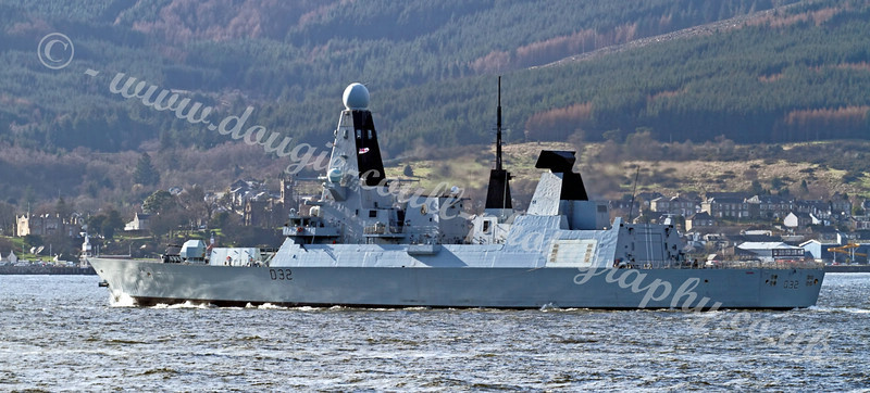 HMS Daring - off Dunoon - 21 March 2011