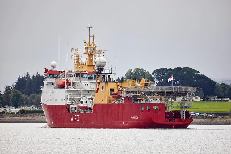 HMS Protector (A173) at Faslane Naval Base - 20 August 2019