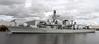 HMS Sutherland (F81) - Type 23 Frigate - Leaving Glasgow - 26 September 2011