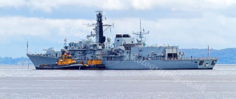HMS Monmouth off Roseneath
