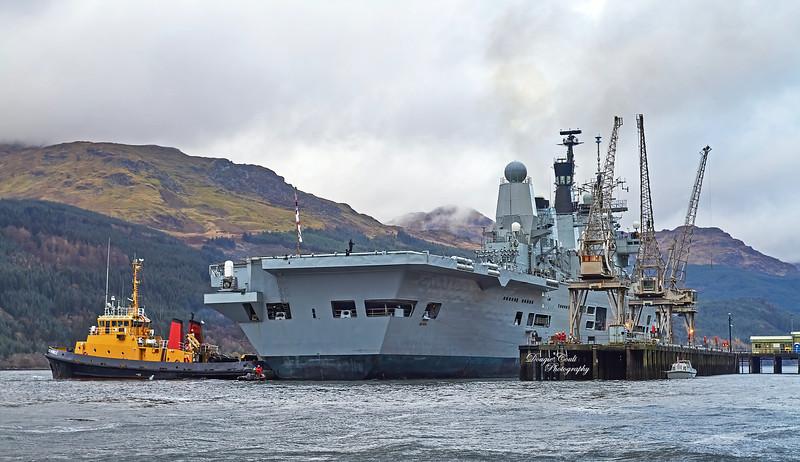 HMS Ark Royal (R09) at Glen Mallan - 12 November 2010