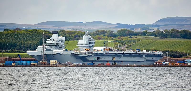 HMS Queen Elizabeth (R08) at Rosyth - 14 May 2017