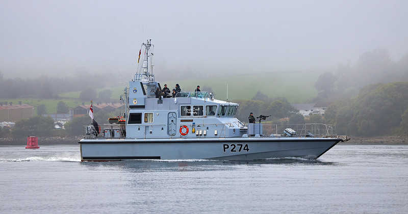 HMS Tracker (P274) at Faslane Naval Base - 15 September 2021