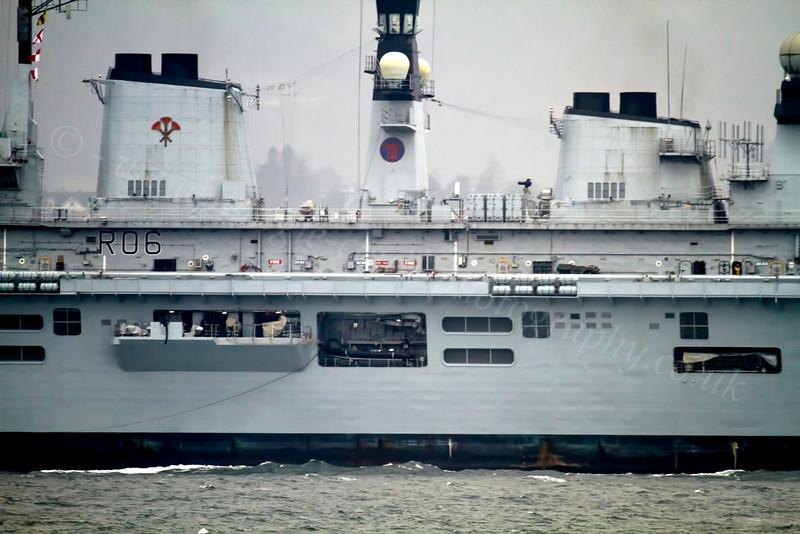 HMS Illustrious - Off Cloch Lighthouse - 6 March 2013