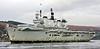 HMS Illustrious Departing Faslane Naval Base