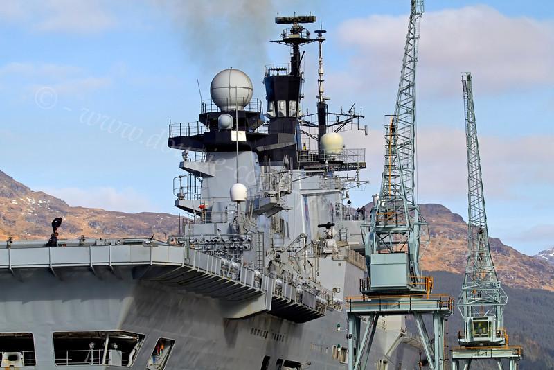 HMS Illustrious at  Glen Mallan Jetty - 1 March 2013