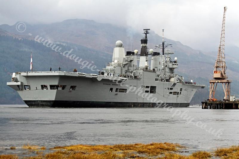 HMS Ark Royal - Departing Glen Mallon Jetty