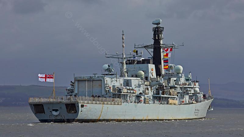 'HMS Argyll' (F231) passing Greenock - 6 March 2015