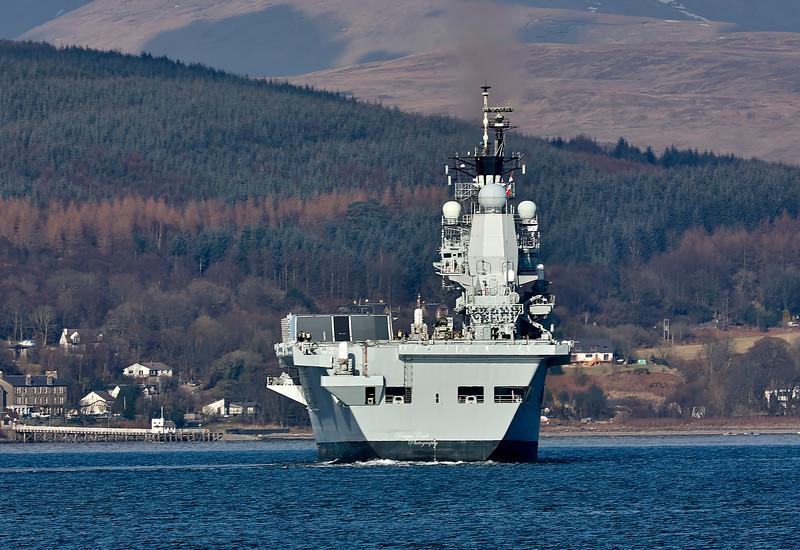 HMS Ark Royal (R07) at Kilcreggan - 20 February 2010