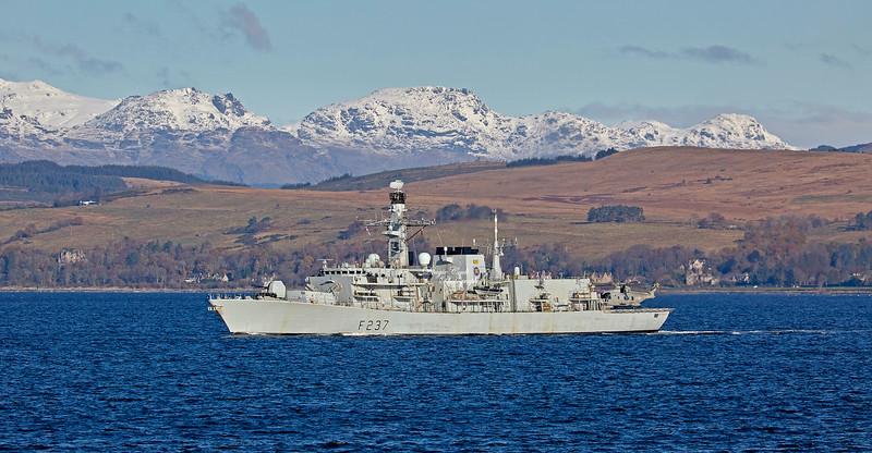 HMS Westminster (F237) off Cloch Lighthouse - 15 November 2019